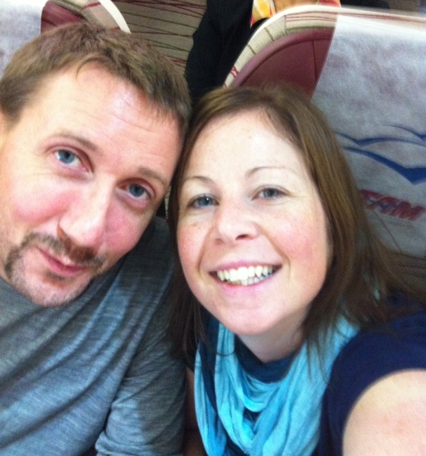 us in the plane before departure