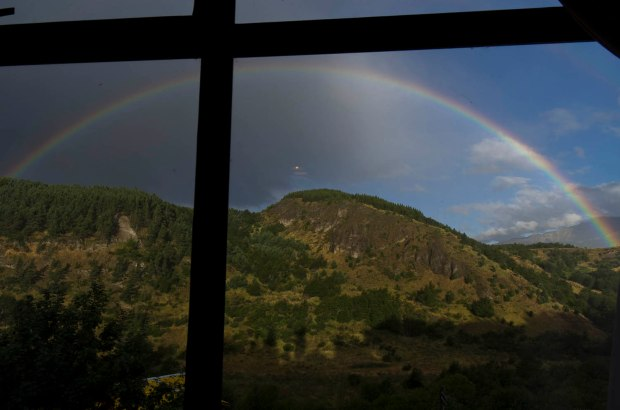 intense rainbows are good luck!