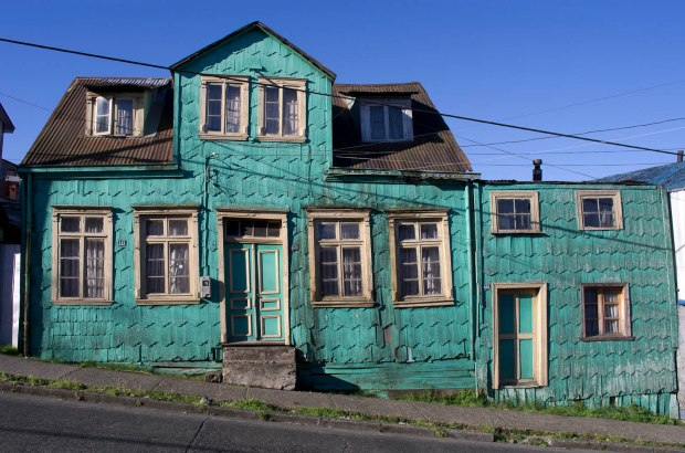 brightly colored houses dot the streets in Puerto Montt