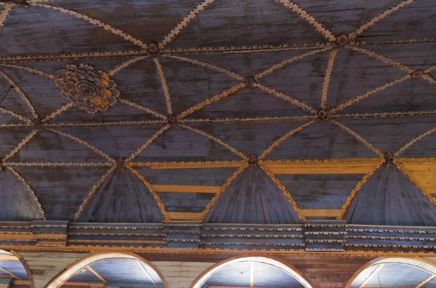 ceiling of church in Chonchi