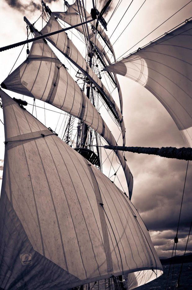 sails open in all their splendor