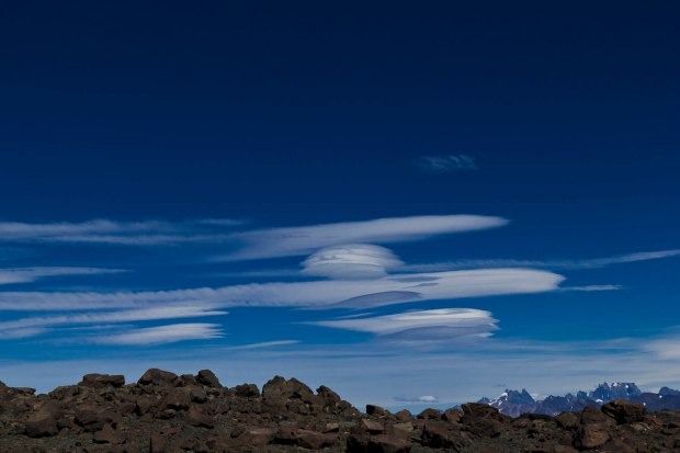 lenticular clouds were everywhere that day