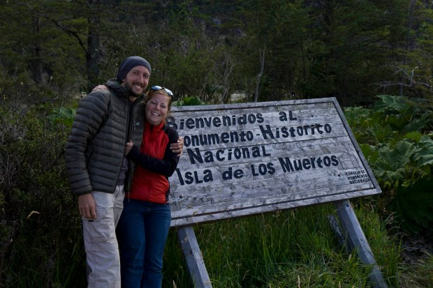 us at the isla de los muertos which is shrouded in mystery as to why the people who lie there died