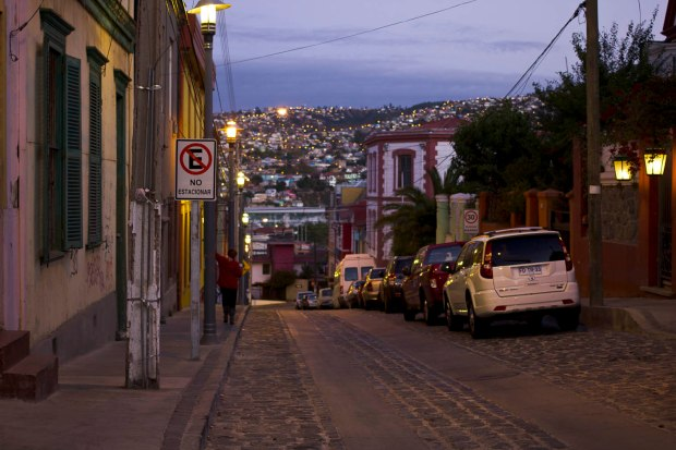 hilly, cobblestone streets