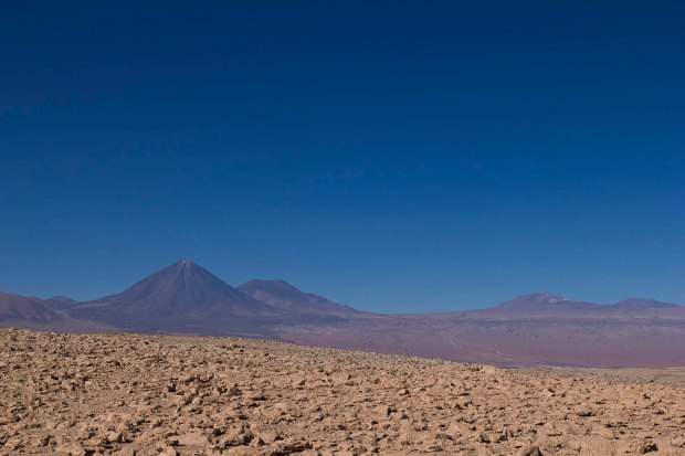 volcano Licancabur seen in the distance