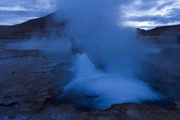 pre-dawn geysers