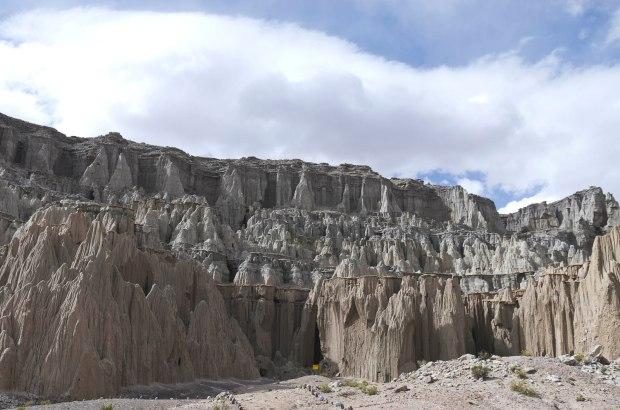 the ciudad del encanto-beautiful white, eroded mountain