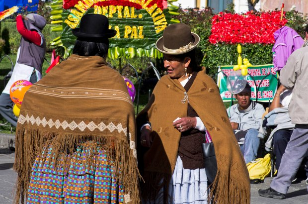 the indigenous Aymara women called cholas