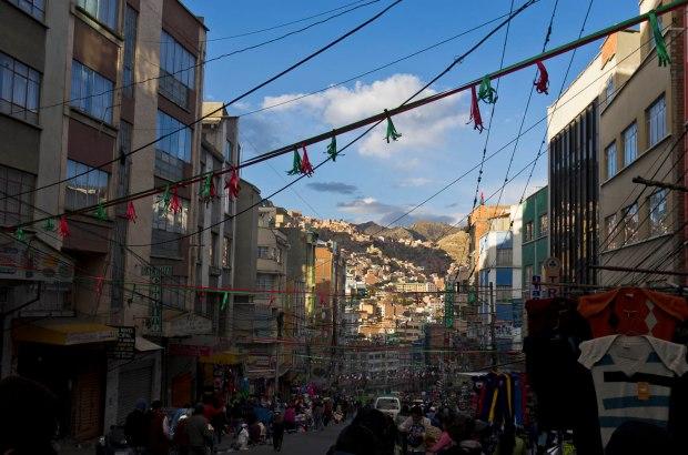 busy La Paz street