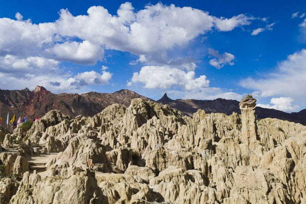 the wind-eroded nature surrounding La Paz-Valle de la Luna (moon valley)