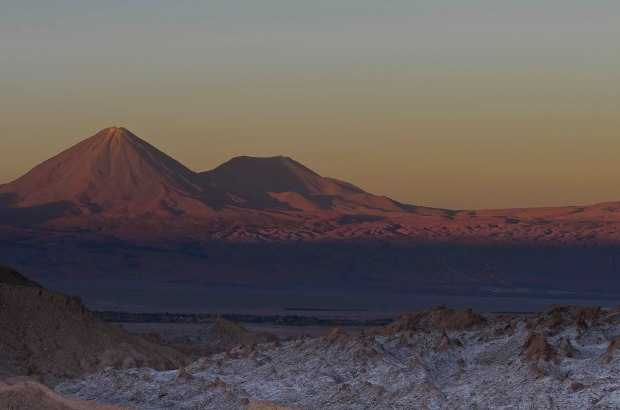 sunset in Atacama-Valle de la Luna