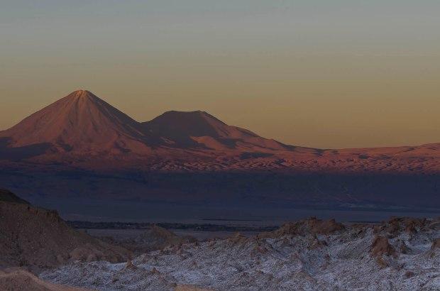 sunset in Atacama-Valle de la Luna