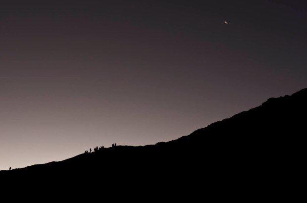 moonrise in San Pedro