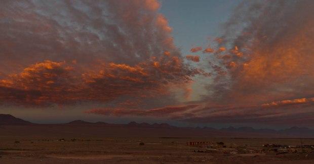 sunset outside of San Pedro de Atacama