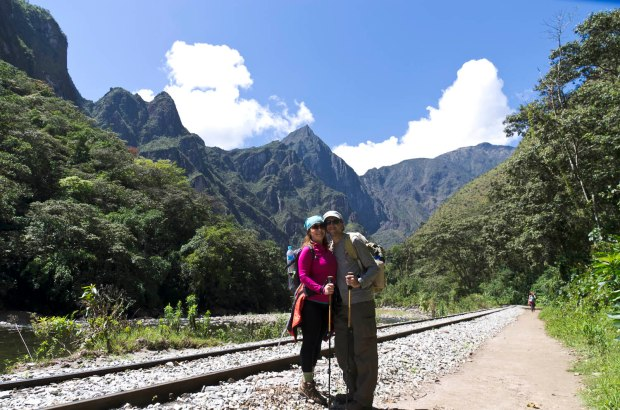on our way to Machu Picchu