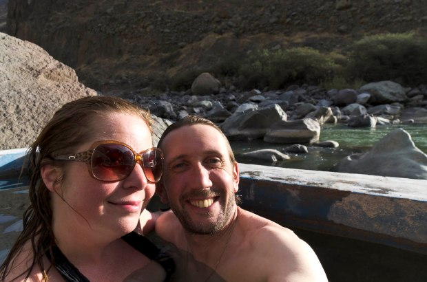 hot springs on the river Colca