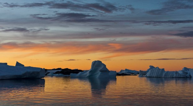 Antarctic 'sunset'
