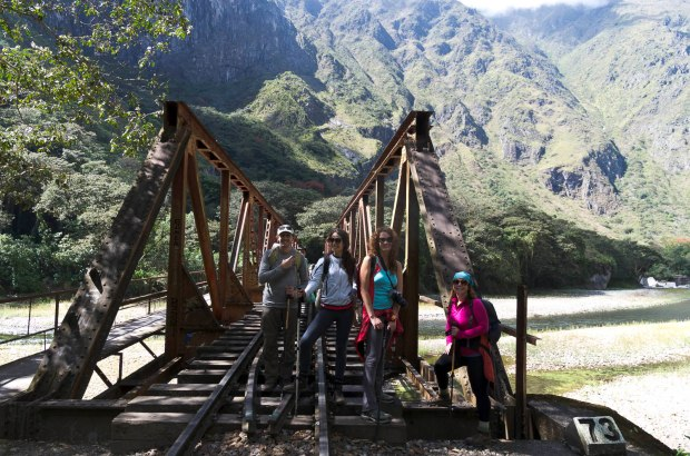 the train track walk to Aguas Caliente-a real highlight
