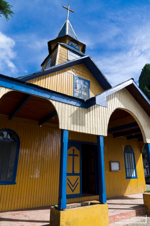 one of the many wooden churches in Chiloe