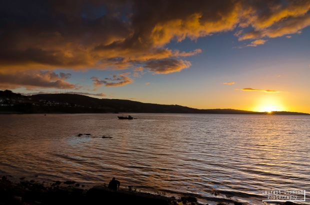 sunset at Ancud, Chiloe