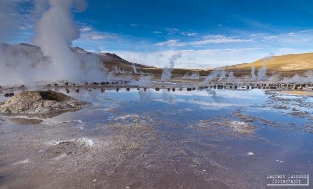 the high-altitude geysers in Atacama