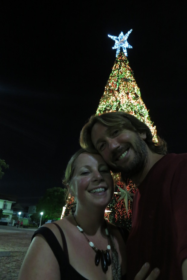 us in front of the 'tree' in Manaus