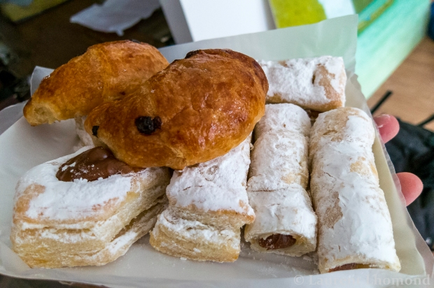pastries busting with dulce de leche