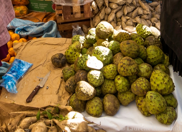 giant and creamy, the chiramoya is one of the best fruits in Bolivia